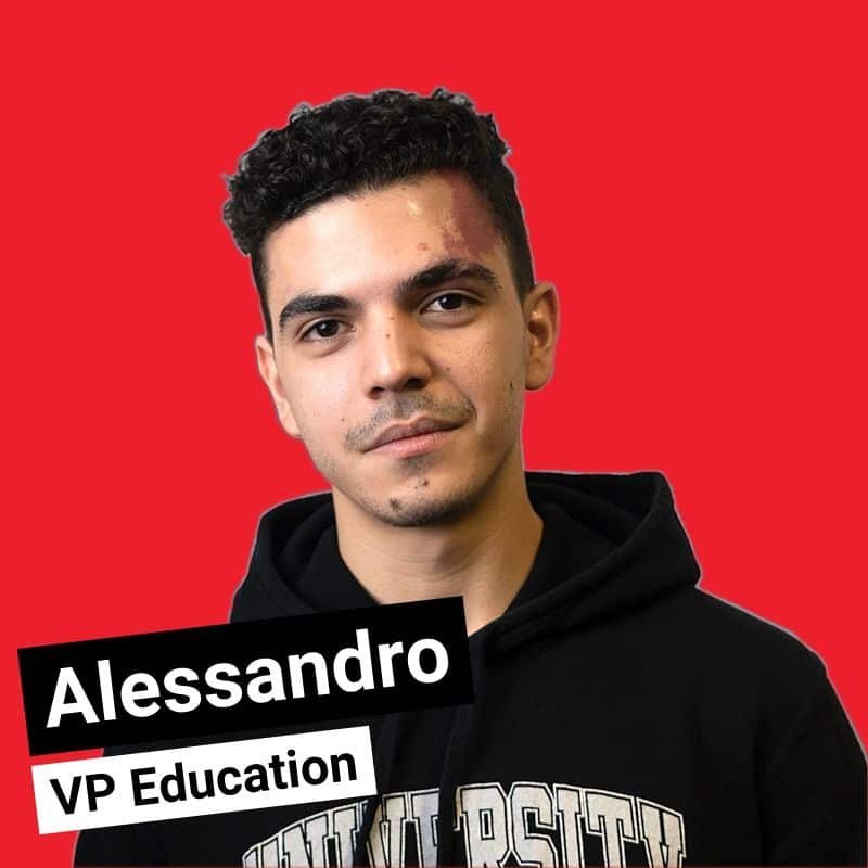 Alessandro - VP Education