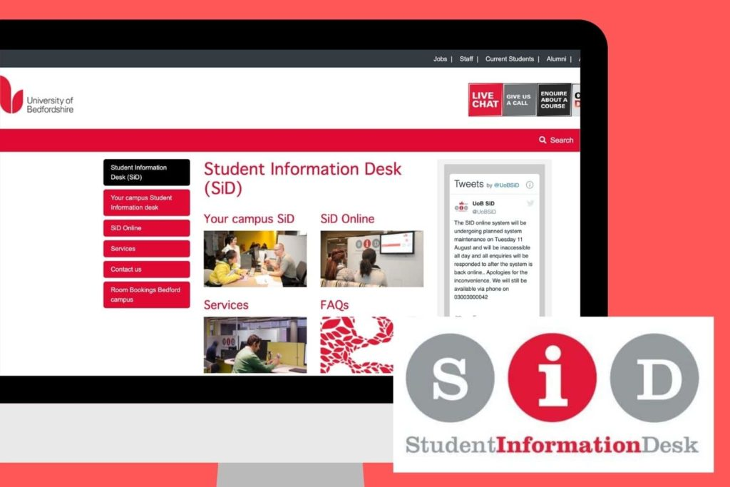 SiD is available to help all students with any queries